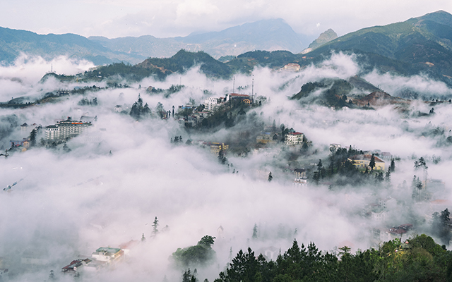 """Mây luồn"" and the three best places to hunt clouds in Sapa 1"